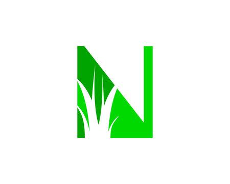 Letter N Lawn Logo