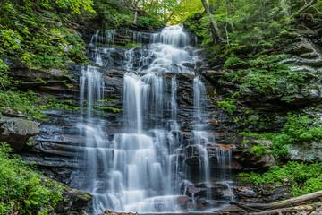 Harrison Wright Waterfall in Ricketts Glen State Park of Pennsylvania