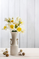Bouquet of daffodils.