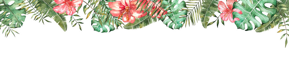 Tropical vibes. Banner