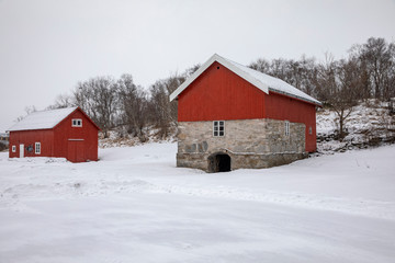 Winter on a old farm