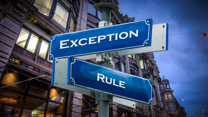 Sign 372 - Exception