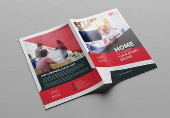 Red and White Business Brochure Layout