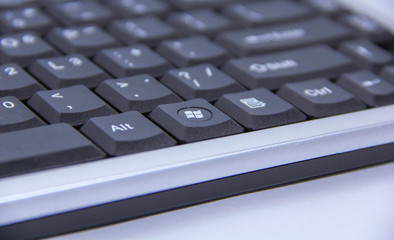 Seremban, Malaysia - February 8 2019: Keyboard desktop with windows 7 icon