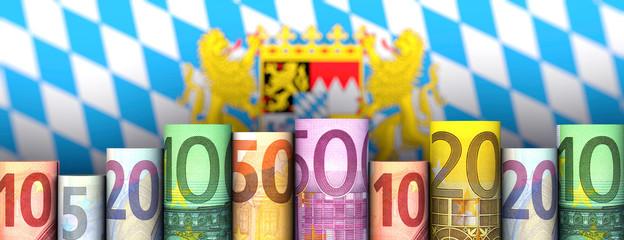Illustration Freistaat Bayern und Geld