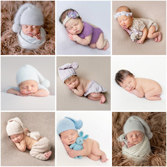 Set of newborn babies