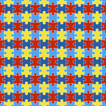 Autism Awareness Seamless Pattern - Colorful pattern design created for autism awareness