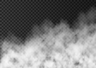 White smoke  or fog  isolated on transparent background.