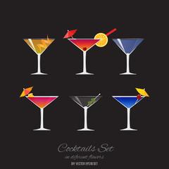 Set of 6 cocktails