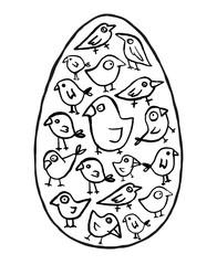 Pisanka z ptaszkami