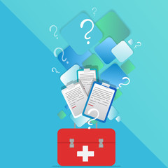 Medical  doctor or nurse kit laboratory equipment
