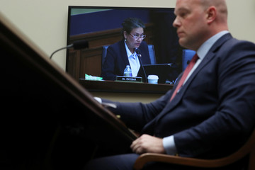 U.S. Rep. Veronica Escobar (D-TX) questions Acting U.S. Attorney General Whitaker during House Judiciary Committee oversight hearing on Capitol Hill in Washington