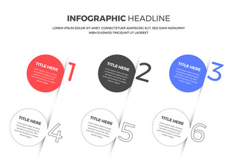 Colored Circles with Text Infographic Template