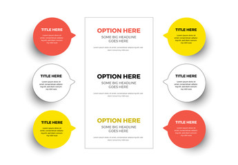 Infographic Circles with Yellow and Orange Accent
