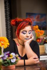 Sad Kitchen Girl
