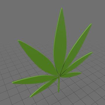 Stylized weed symbol