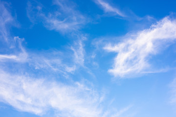 Clouds on a blue sky as background
