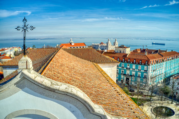 The set of the Graça church and convent is located in Largo da Graça, in the parish of São Vicente, in Lisbon. It faces a viewpoint overlooking the city and the river.  Belonging to the Order of the A