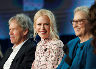 "Nicole Kidman, Meryl Streep and David E. Kelley attend a panel for the second season of the HBO series ""Big Little Lies"", during the Television Critics Association (TCA) Winter Press Tour in Pasadena"