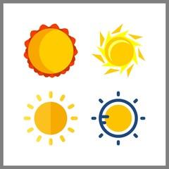 4 wallpaper icon. Vector illustration wallpaper set. sun icons for wallpaper works