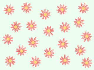 발간색 꽃 배경 그림