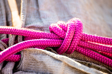 knot of a mooring line