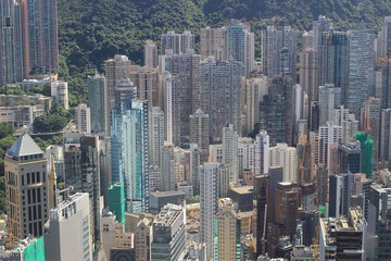 aerial view of the Sheung Wan at IFC