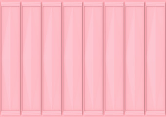 3d rendering. sweet soft pink color tone vertical panels pattern for any design wall background.