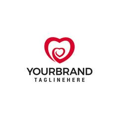 heart love  logo design