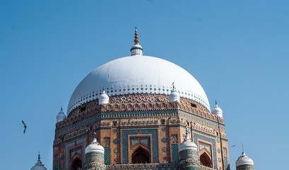 A dome of the tomb in the Multan  Wall mural