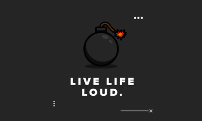 Live Life Loud Motivational Quote Poster Design