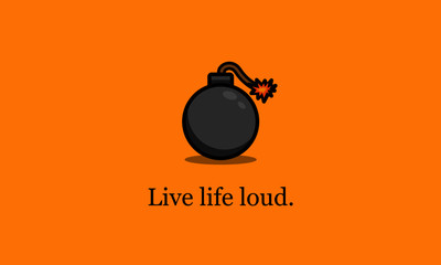 Live Life Loud Motivational Quote Poster Design