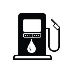 Black solid icon for fuel station gasoline