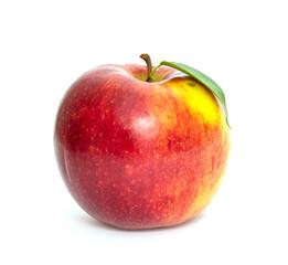Ripe apple on a white background, studio photo.