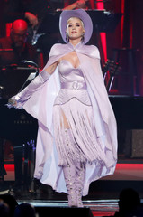 Katy Perry performs during a gala event honoring Dolly Parton as the MusiCares person of the year in Los Angeles