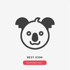 koala icon vector