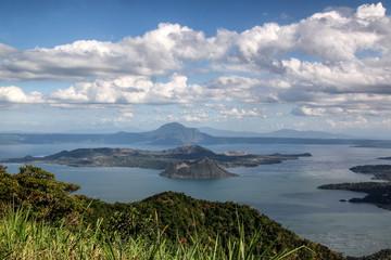 Tagaytay Volcano, Luzon, Philippinen, dramatische Wolken