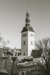 Tallinn, Estonia. Monochrome stylized photo