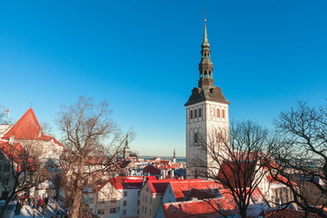Tallinn, Estonia. Winter cityscape