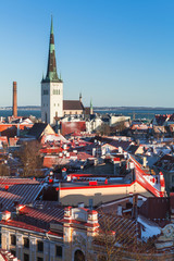 Old town of Tallinn vertical cityscape