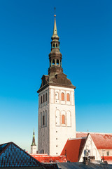Old town of Tallinn, Estonia. Vertical photo