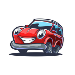 Tuinposter Cartoon cars red sport car cartoon