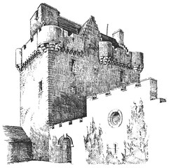 Old castle #sketch #isolated #vector