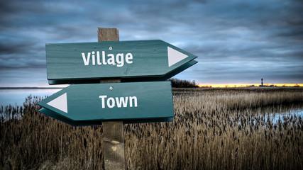 Sign 382 - Village