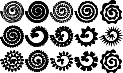 Rolled Flowers For Origami And Quilling, Flowers Templates