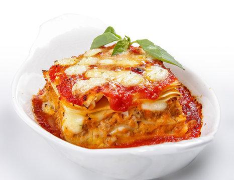 Lasagne. Traditional Italian dish