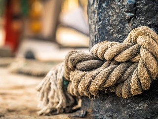 rope of a boat