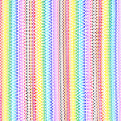 Bright colorful wavy lines pattern