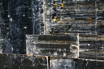 Old black board