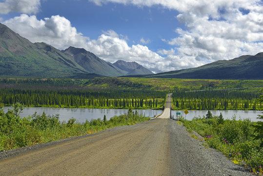 The Bridge over the Susitna River, Denali Highway, Alaska, USA
